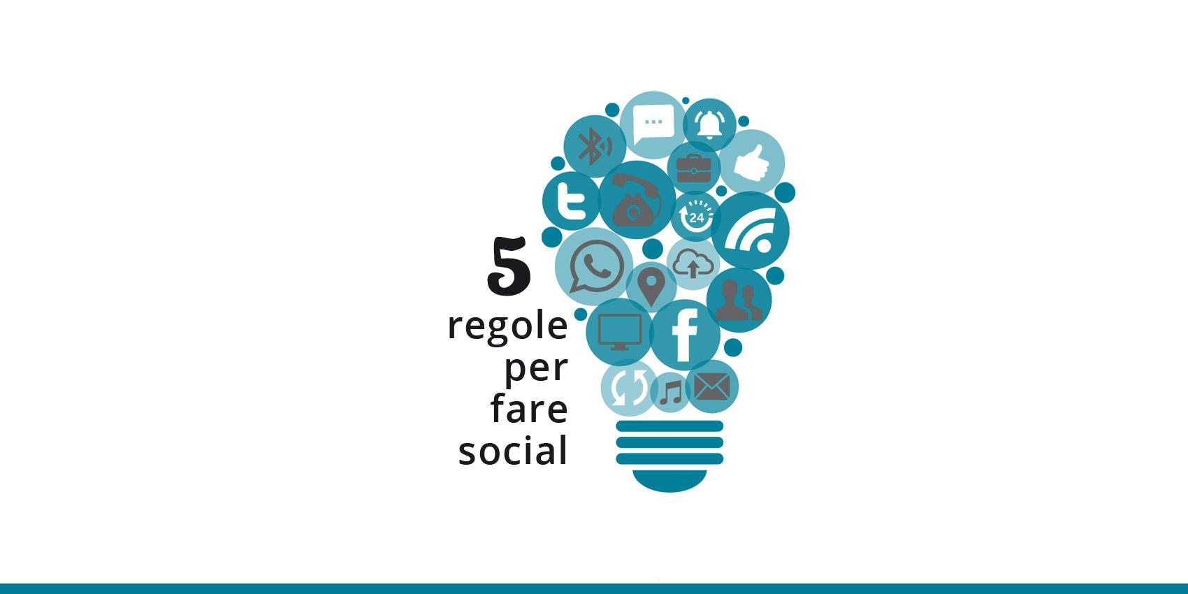 5 regole social