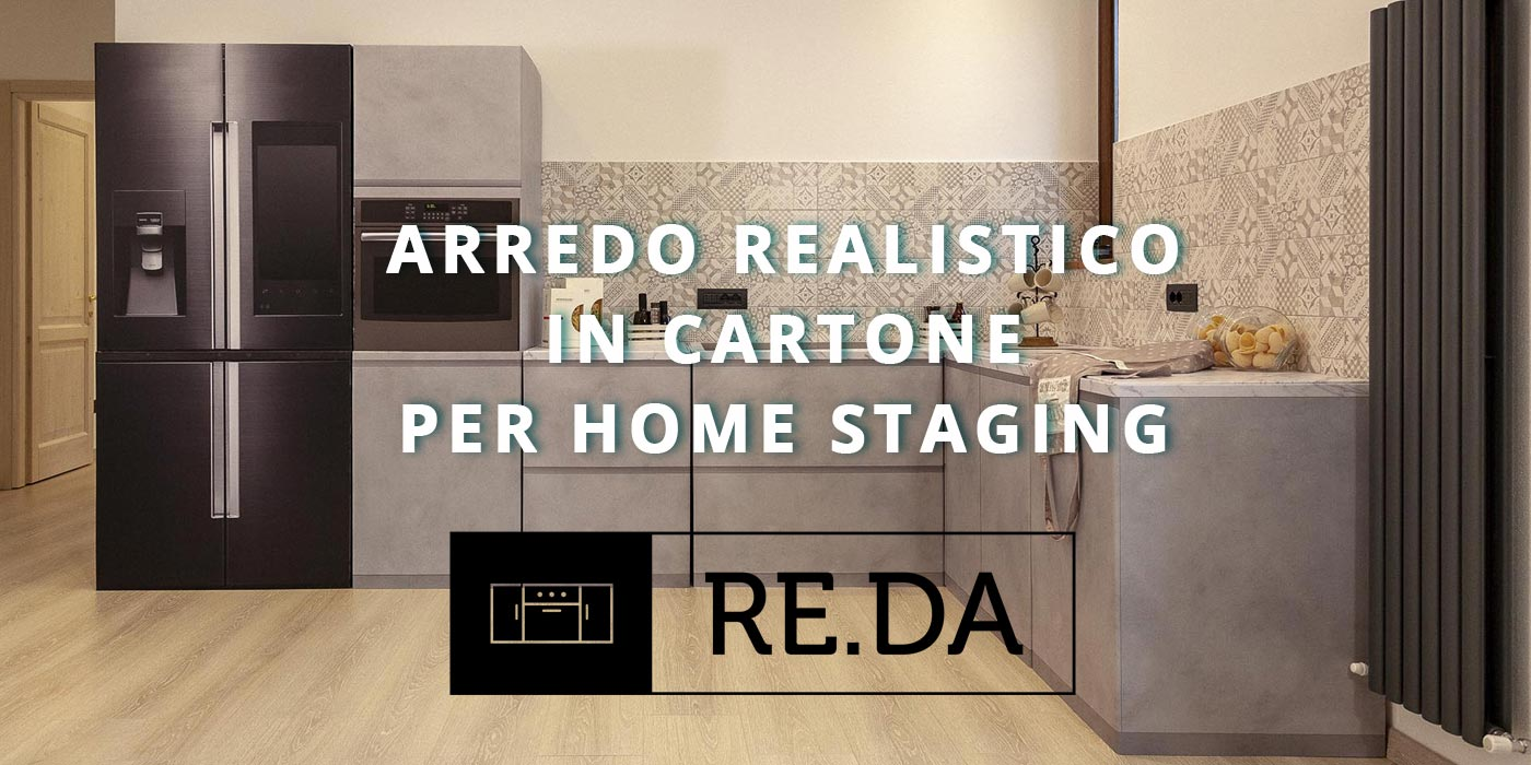 re.da arredo realistico in cartone per home staging